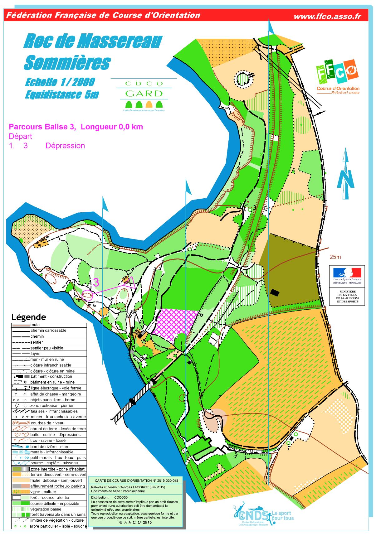 carte course d orientation Orientation race – Le Roc de Massereau